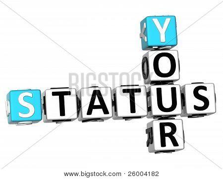 3D seu Status Crossword