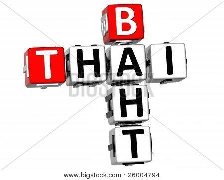 3D Thai Baht Crossword