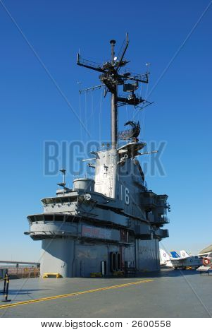 Deck Of The Aircraft Carrier