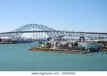 Vista sobre a área do Porto de Corpus Christi, Texas