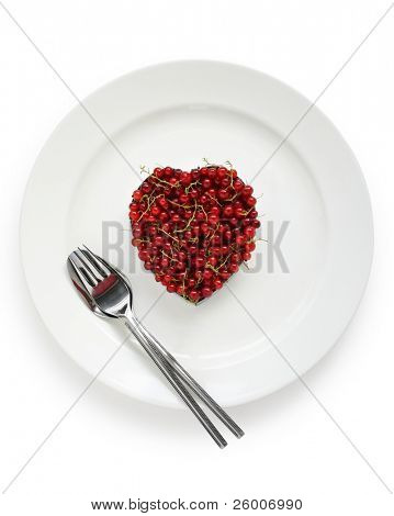 Heart-shaped Red Currants , Love image
