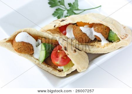 Sanduíche de falafel Pita