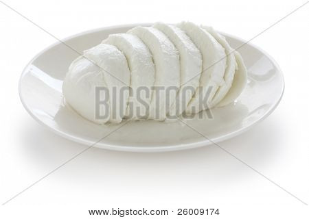 sliced buffalo mozzarella cheese