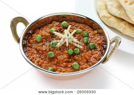 keema curry and naan  , indian food