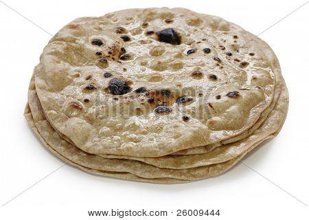 chapati , flat indian bread