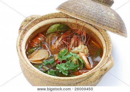 tom yam kung , thai cuisine , hot and sour prawn soup
