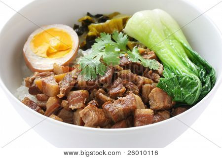braised pork rice , taiwanese cuisine