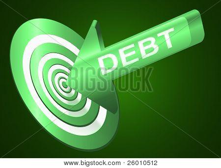 Ziel der Schulden.