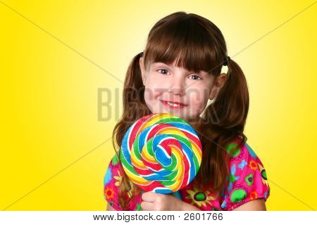 Yellow Lollipop Girl