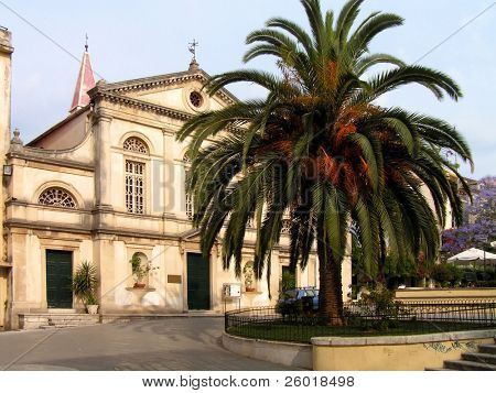 Corfu town-hall square