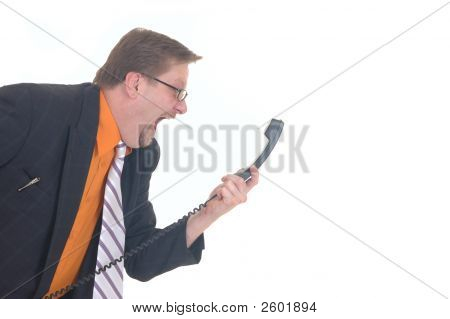 Yelling Businessman