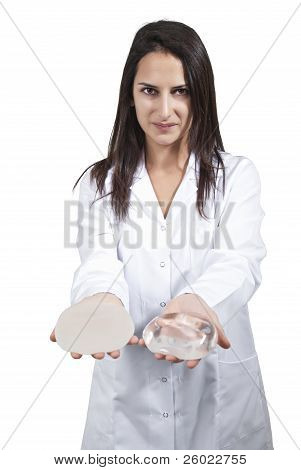 Female Doctor Offer Breast Implant