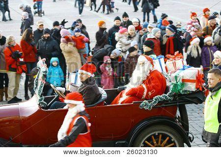 Christmas Street Opening In Helsinki