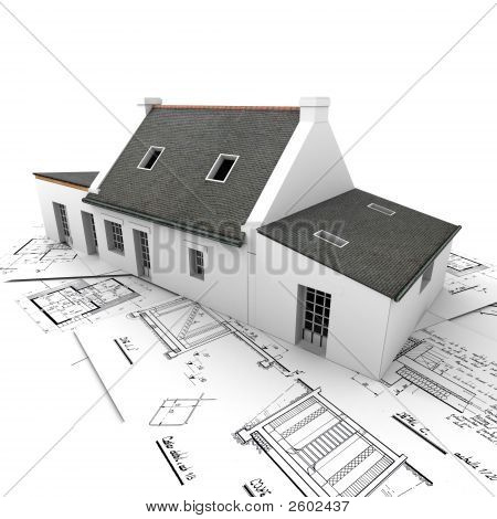 House On Top Of Blueprints