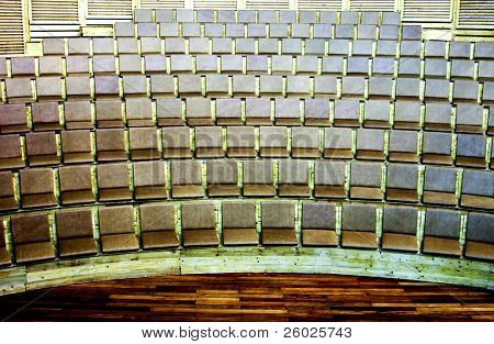 Rows of seat in old amphitheater
