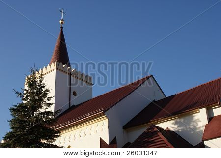Church under blue sky