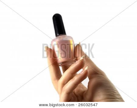 Nail polish in a hand