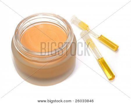 Test-tubes and tonal cream