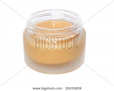 Tonal cream over white