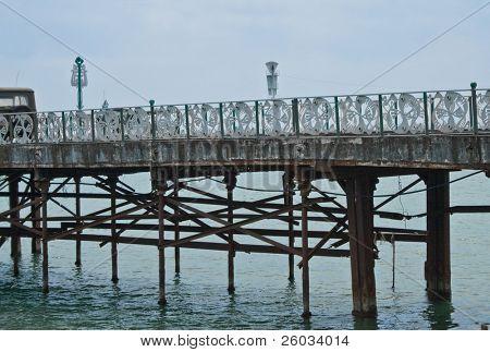 Old pier in a fog