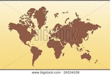 Mapa del vector del mundo