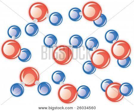 Molecules of water. Vector illustration