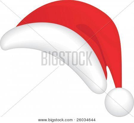 Red Santa's hat. Vector illustration
