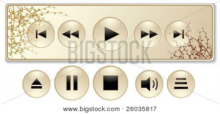 Abstract media player. Vector illustration