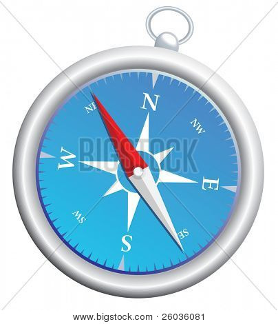 Highly detailed vector compass
