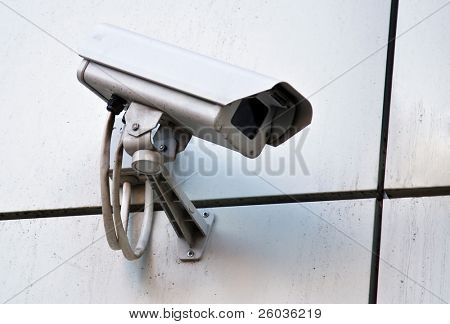 Camera of external supervision on wall