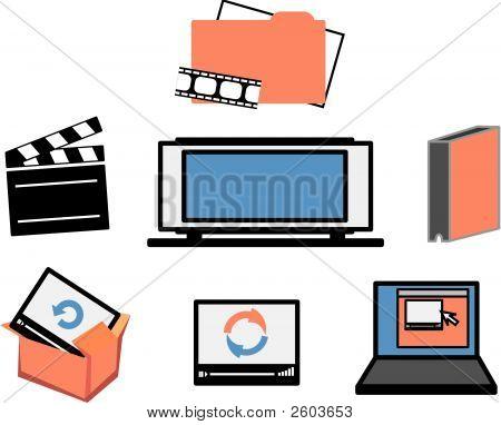 Iconos de los medios de comunicación de video