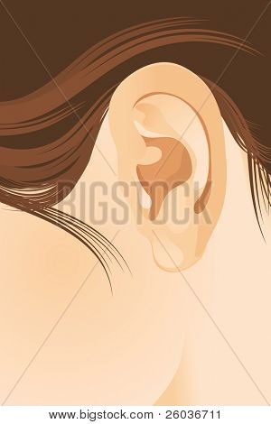 The human ear. Vector illustration