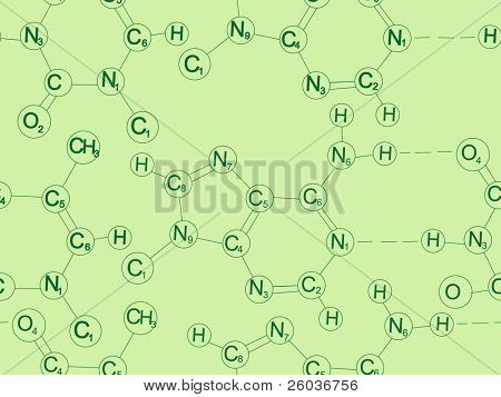 Seamless vector background from molecules