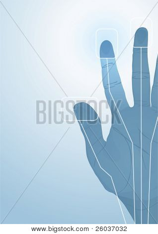 The cybernetics hand. Vector illustration