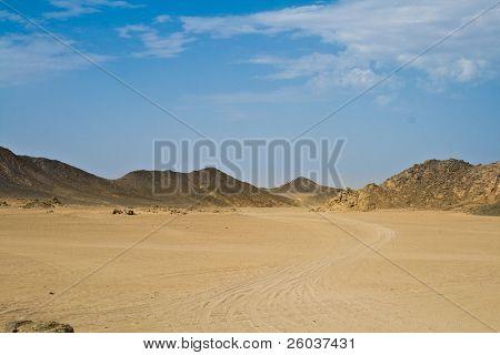 Landscape of desert (Sahara, Egypt)