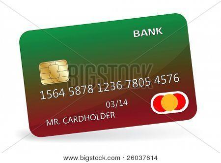 Variant of design of a credit card. Vector illustration