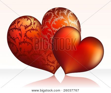 St. valentine's concept: two hearts. Vector illustration Stock Vector & Stock Photos Bigstock