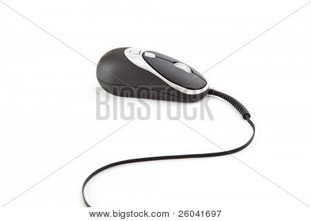 Small computer mouse. Isolated on white background