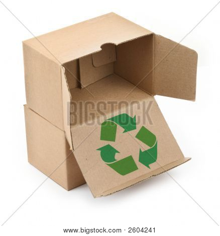 Cardboard Boxes With Recyclable Symbol