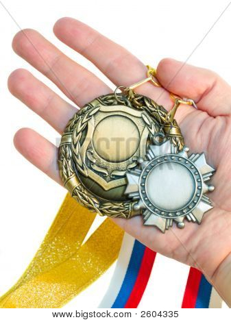 Three Medals In Hand