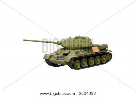 Model Of Old Soviet Tank