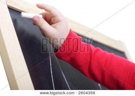 Drawing On Blackboard