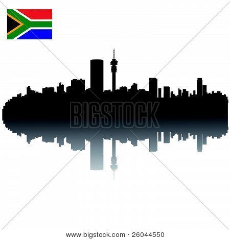vector Johannesburg silhouette