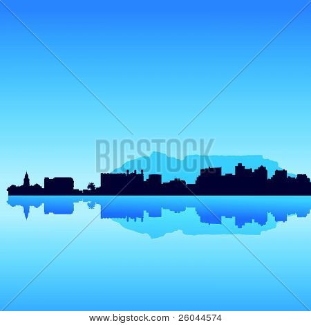 vector Cape Town skyline