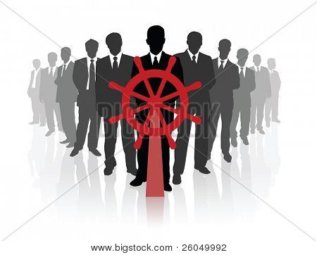 Professional business team. Vector illustration