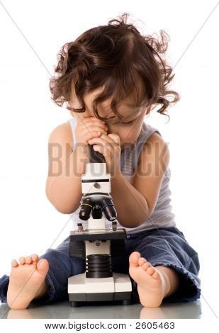 Baby With Microscope.