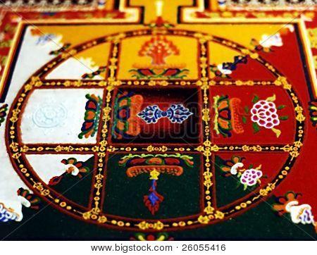 tibetan mandala made with sand