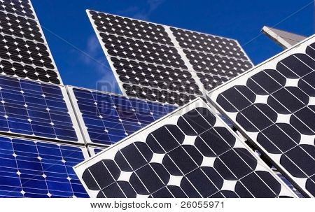 solar panels and sky