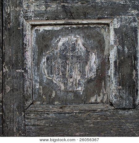 old grunge door panal