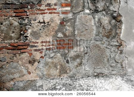 very old brick wall